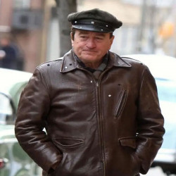 The Irishman Frank Sheeran Brown Leather Jacket