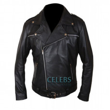 The Walking Dead Negan Black Leather Jacket