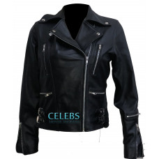 Tomb Raider Alicia Vikander Black Leather Jacket