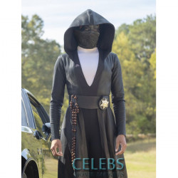 Watchmen Regina King Leather Hooded Coat