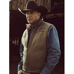 Yellowstone Kevin Costner Black Vest