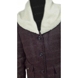 Yellowstone Beth Dutton Fur Shawl Collar Coat