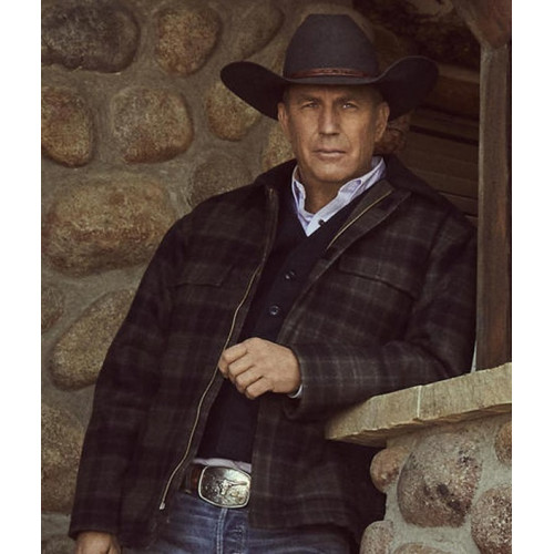 Yellowstone John Dutton Plaid Jacket