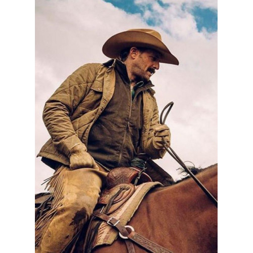 Josh Lucas Yellowstone John Dutton Quilted Jacket