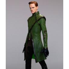 Stargirl Henry King Brainwave Green Leather Coat