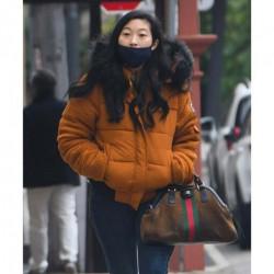 Shang-Chi Katy Orange Fur Hooded Jacket